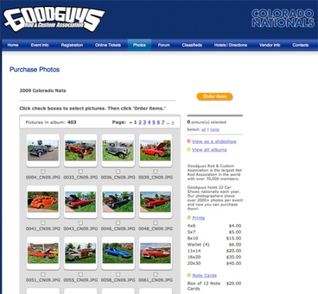 Purchase Photos Online for the 2009 Colorado Nationals